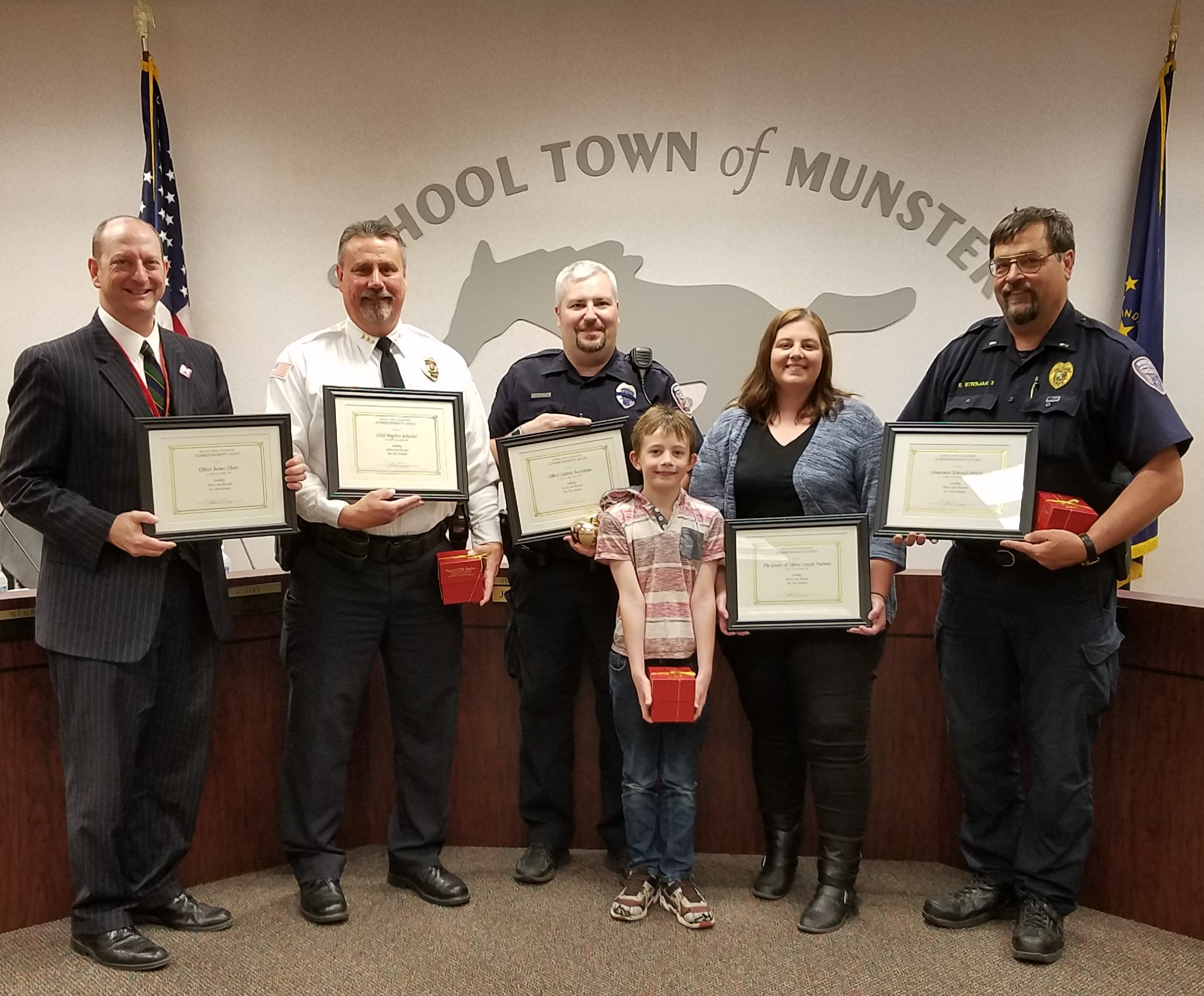 Munster Police Department and Joe Pacheco's Family