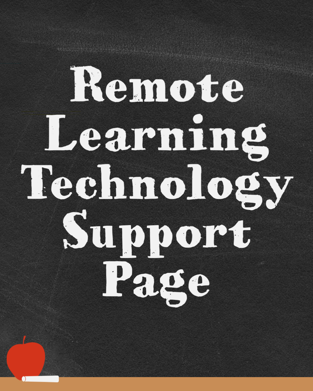 Remote learning technology support page